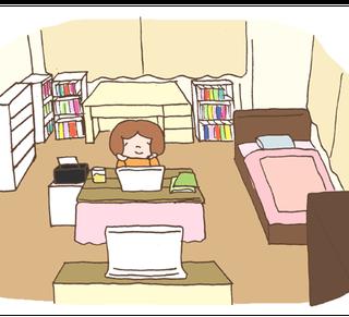 こんな部屋でブログをかいています。